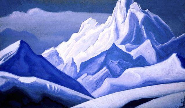 Н.К. Рерих. Гималаи. 1939.